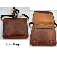 HANDMADE LEATHER ELEPHANT BAG 33X25X7CM