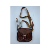 HANDMADE LEATHER SMALL BAG 18X15X6CM