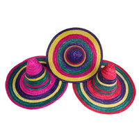 49CM MULTI-COLOURED MEXICAN HAT 3ASST