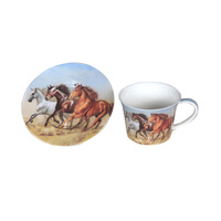 HORSE 250CC CUP AND SAUCER SET