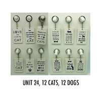 CAT & DOG KEYRINGS UN24