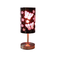 TOUCH LAMP PINK BUTTERFLY