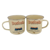 BUSHELLS TEA ENAMEL MUGS SET 2 GIFTBOXED