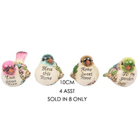 10CM CUTE BIRD W/WORDING SOLD QTY 8
