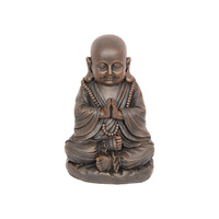 30CM PRAYING BROWN BUDDHA QTY 2