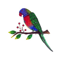 36CM RAINBOW LORIKEET WALL PLAQUE