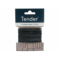 TENDER HAIR ELASTIC THICK BLACK SOLD QTY6