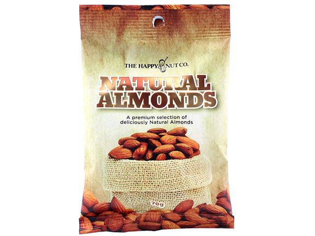 HAPPY NUT NATURAL ALMONDS 70G