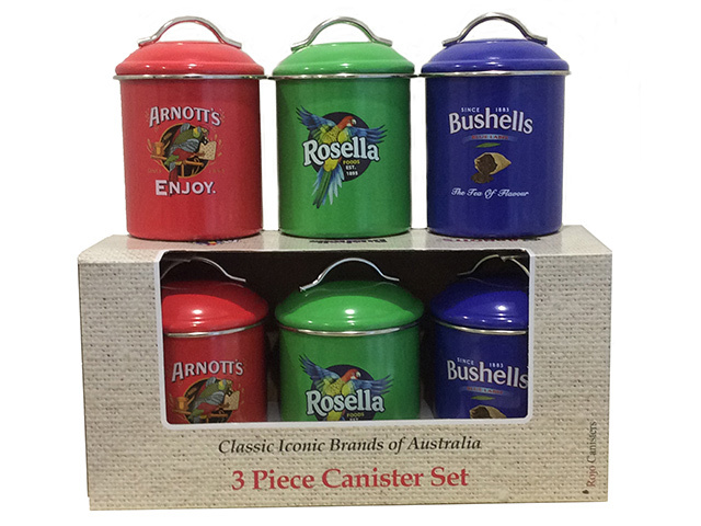 CANISTER 3 PCE SET COLOURED