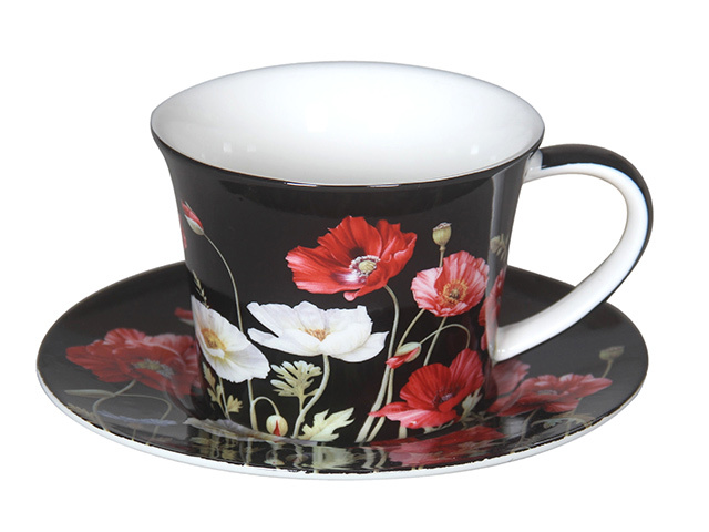 POPPIES 250CC CUP AND SAUCER SET