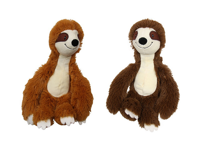 30CM CUTE PLUSH SLOTH 2ASST QTY 4