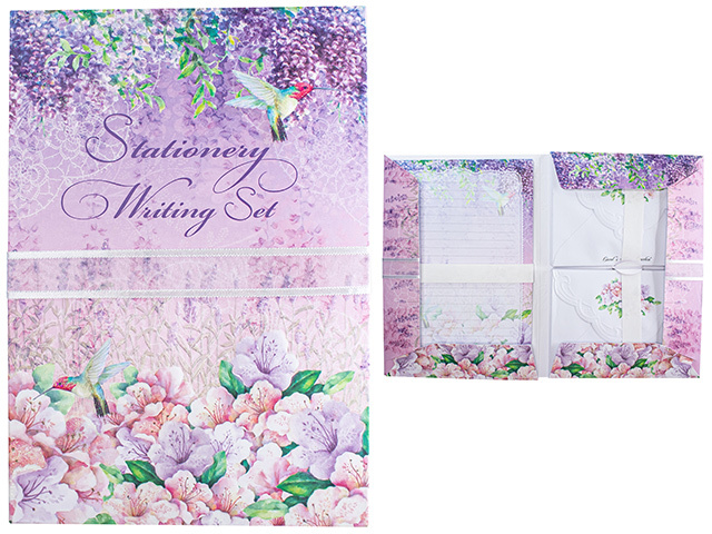 WRITING SET LILAC LUXURY