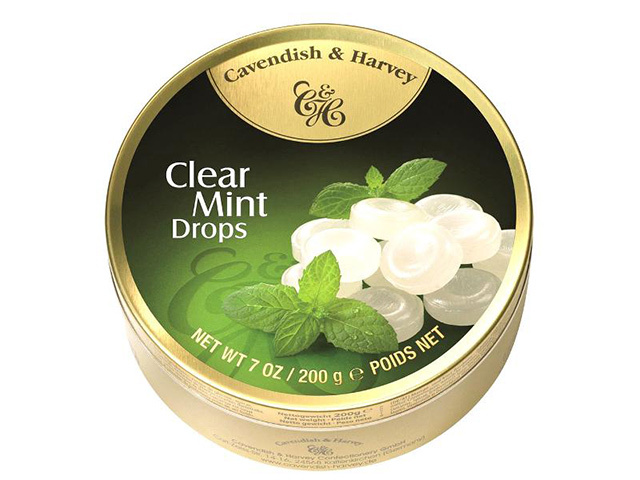 CAVENDISH CLEAR MINT DROPS 200G