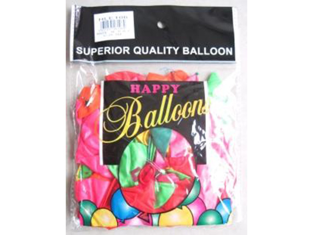 BALLOON ASSORTED COLOUR 50PC UN24
