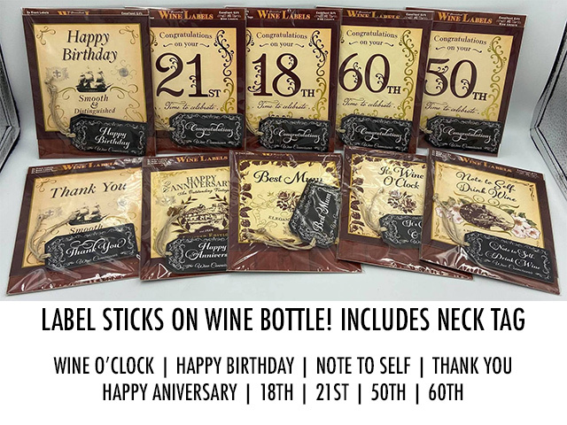 GIFT WINE LABELS 10ASST